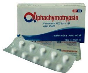 Thuốc alphachymotrypsin là thuốc gì?