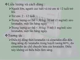 Liều dùng và cách dùng của thuốc Loratadin