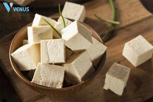 Đậu phụ là món ăn không thể thiếu trong thực đơn giảm cân.